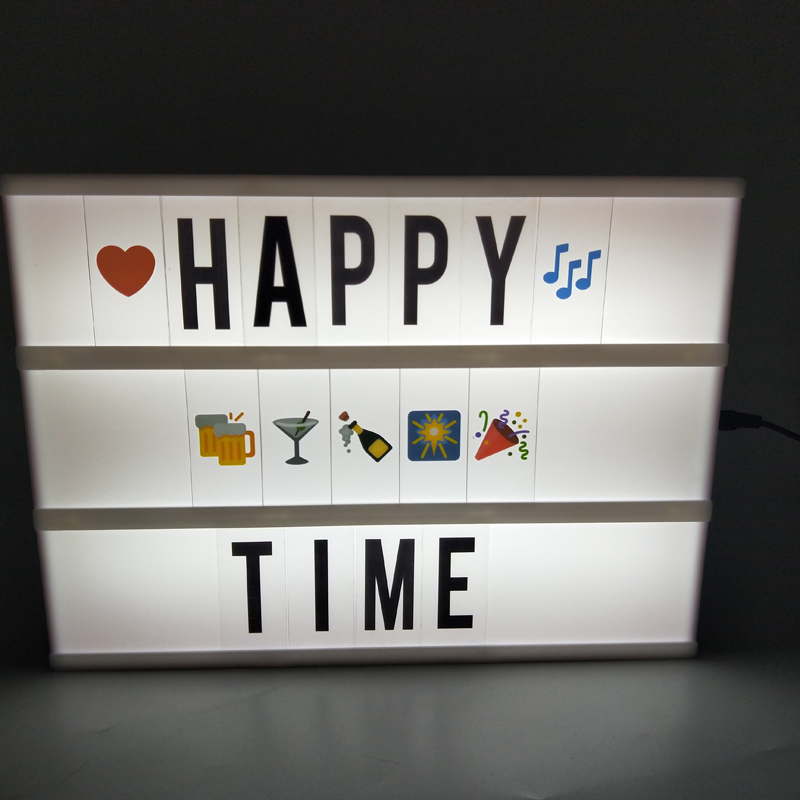 DIY Letter LED Night Light A4 Combination Cinema Light Box Table Lamp