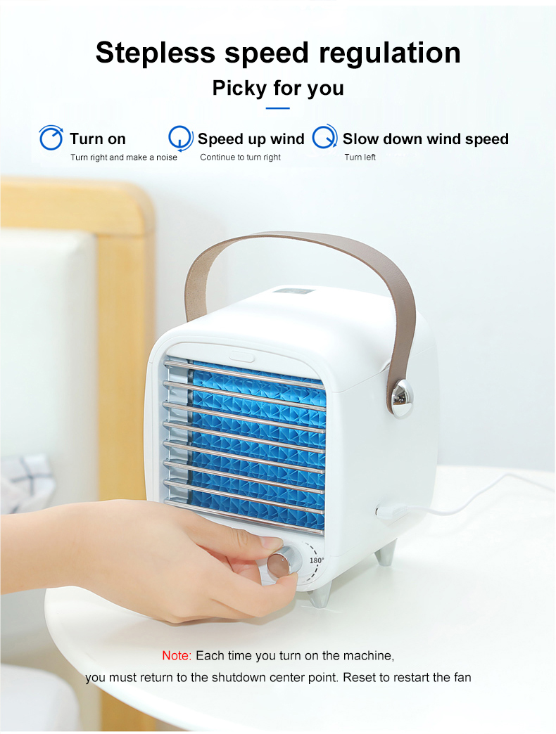 portable mini desk water misting cooling air conditioner fan