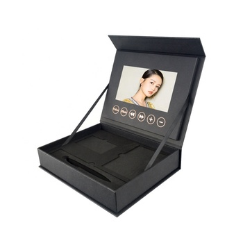 Customized 5 7 10 inch LCD screen greet video gift box jewelry ring box for advertising business marketing