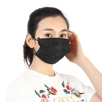 China factory medical disposable surgical black face mask