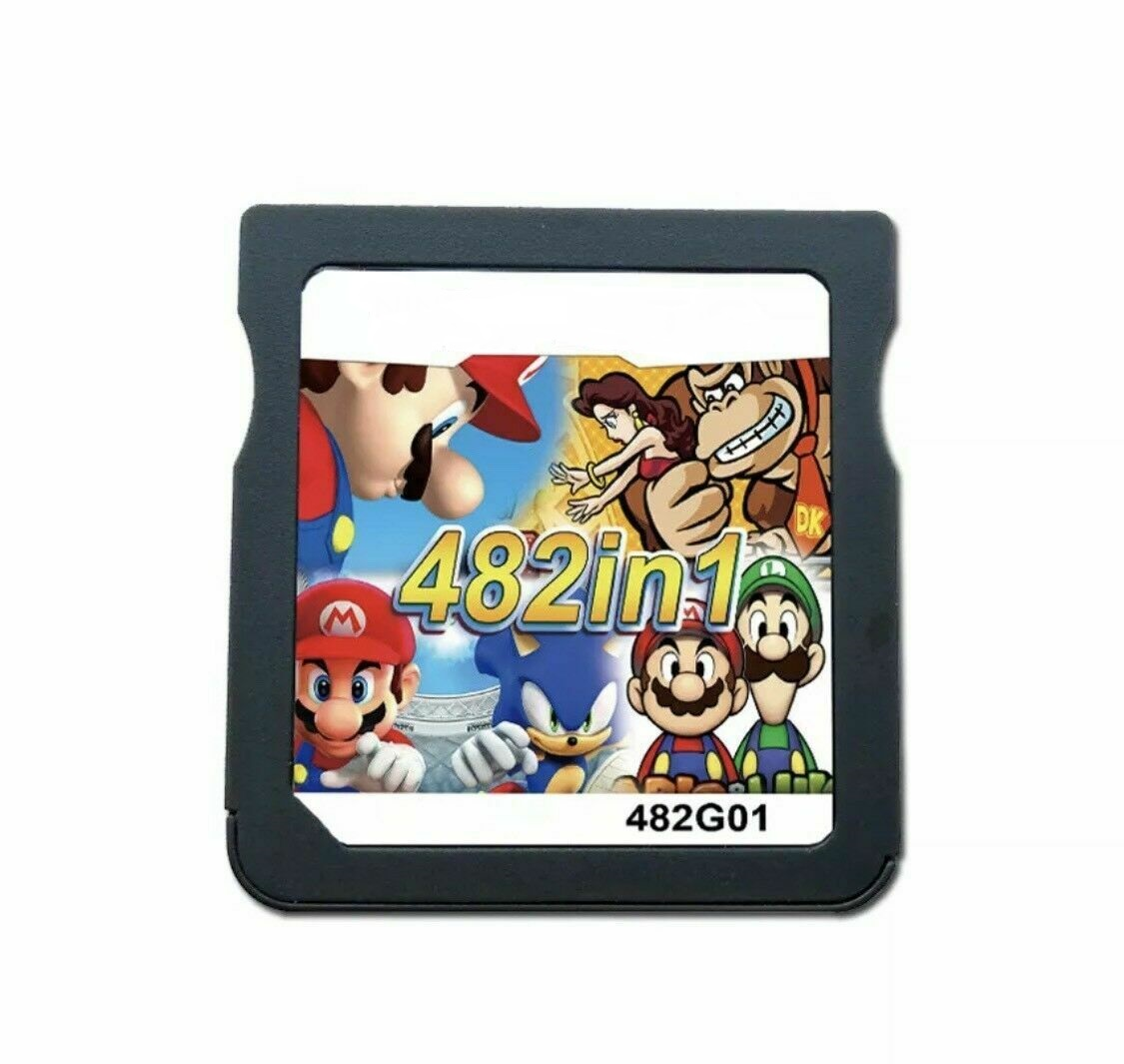 482 In 1 For Nintendo for DS/DSL/2DS/3DS/DSI Video Game Cartridge Console Card