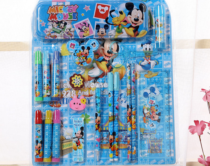 OEM Cartoon School Stationery Office Stationery Set Promotion Gift Set for Kids