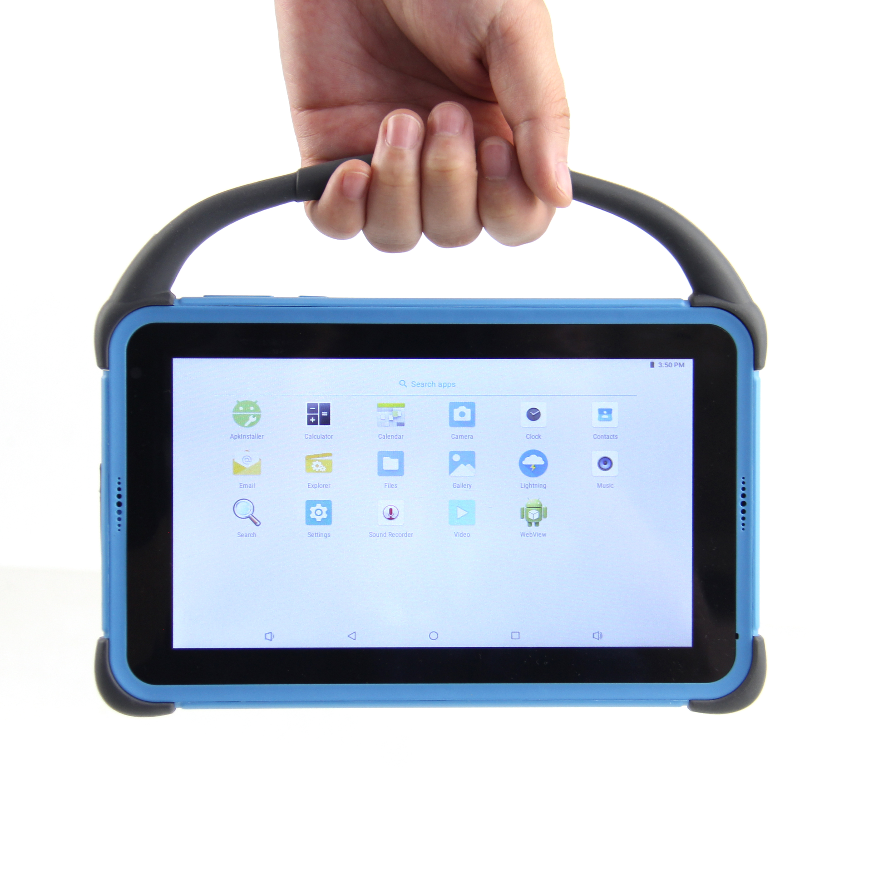 12 years olds Kids education 7inch pad 3G Calling Android  kids tablet phablet for children with Handle and Protective case