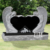 Cheap stone monuments marble religious double angel heart shaped grave headstone tombstone