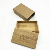 Custom Storage Gift Square Packaging Bamboo Wooden Box With Lids