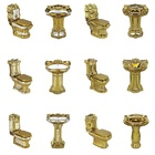 Royal style custom decorative bathroom luxury gold toilets