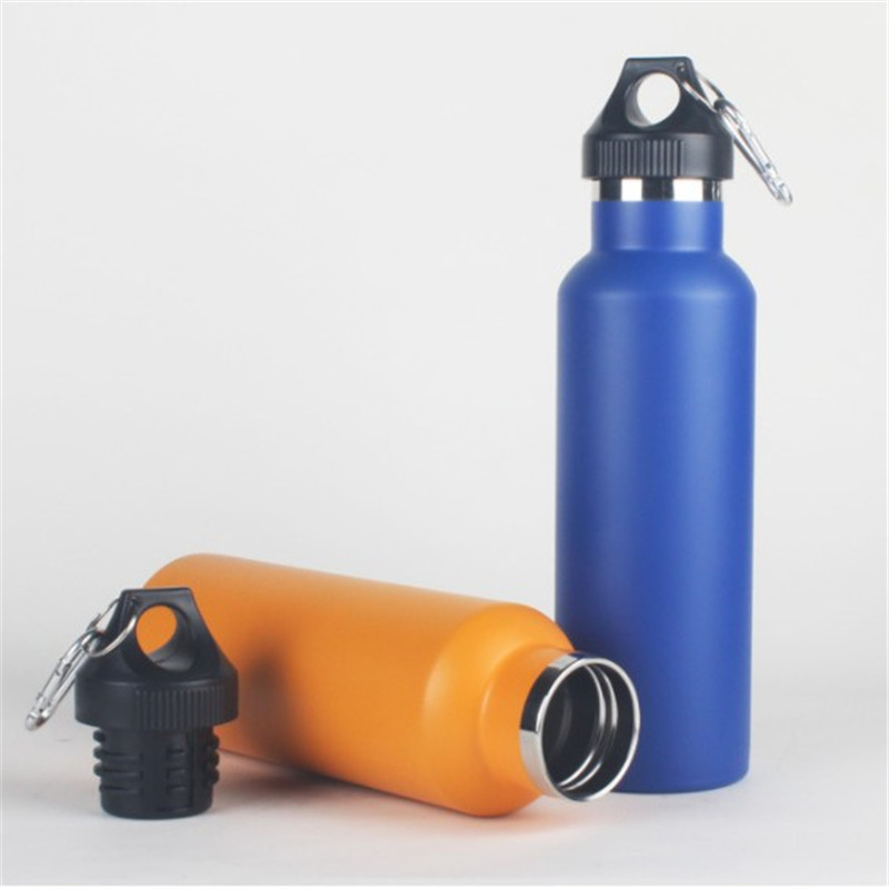 Customized Outdoor Double wall 304 Stainless steel 350ML water bottle sports bottle with Carabiner
