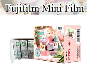 6 packs 60 exposures total 3 inch instax film for Fujifilm instax mini instant film with white edge