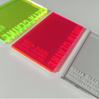 Fluorescent Cast Acrylic Card 3mm Neon Plastic Business Card