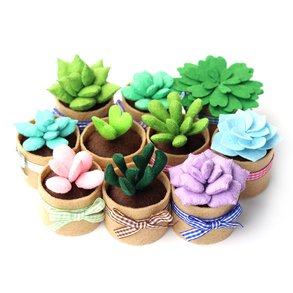 Non-woven Fabric DIY Craft Supplies Needle Point Sewing Kit Succulent Plants Storage Box