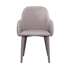Hot Sale Fabric Living Room Leisure Bar Dining Love Chair With Wood Leg Armchair