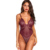 Frauen Hot Sexy Spitze Hängematte Transparent Striped Mesh-Body