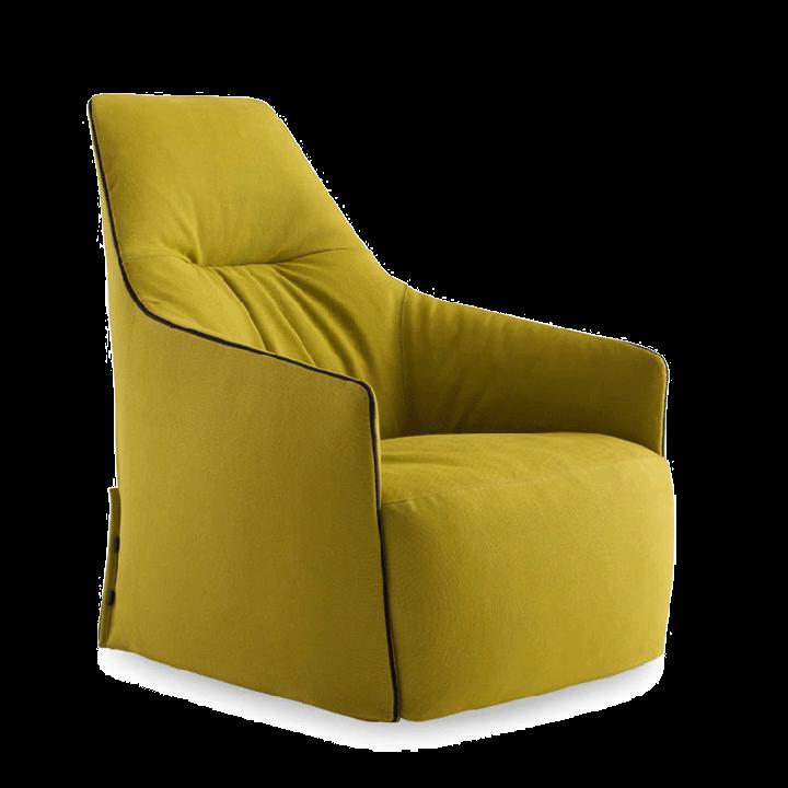 Sarı yüksek arka koltuk dinlenme koltuğu kumaş oturma odası yatak odası otel için sıcak satış oturma odası mobilya