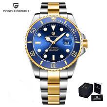 2020 PAGANI Дизайн механические наручные часы люксовый бренд Мужские часы Автоматические черные из нержавеющей стали водонепроницаемые Бизнес ...(Китай)