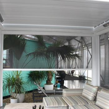 SUNC terrace cover series external canvas blinds system