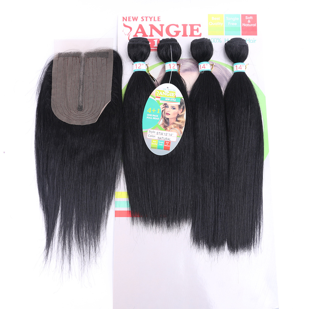 Angel Hair Straight Hair Bundles Kinky Curly Bulk Hair