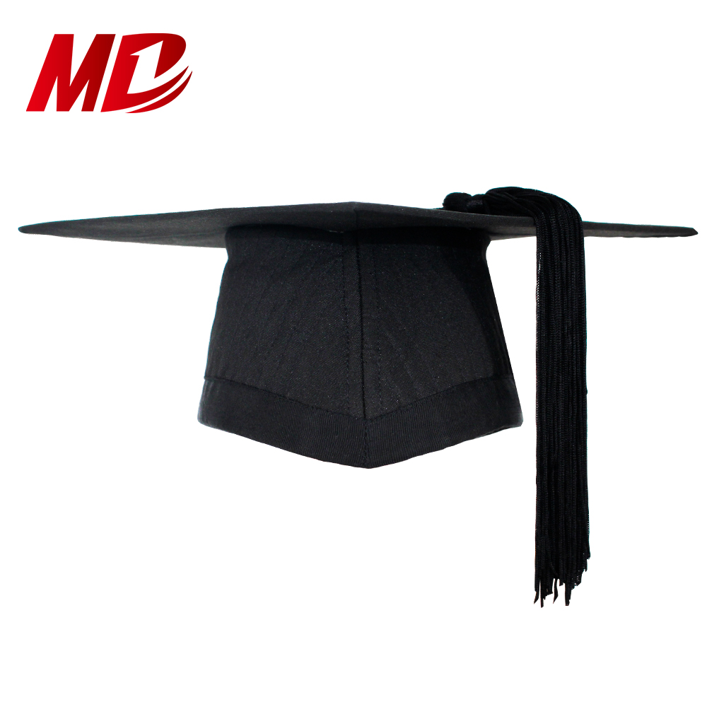 UK New Style High Quality Quilting Mortarboard with Stiff skull