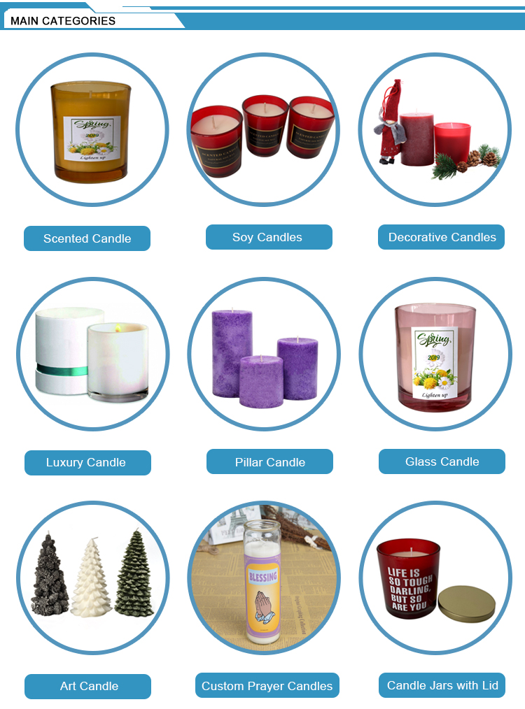 China suppliers handmade wedding gift decorative candles wholesale