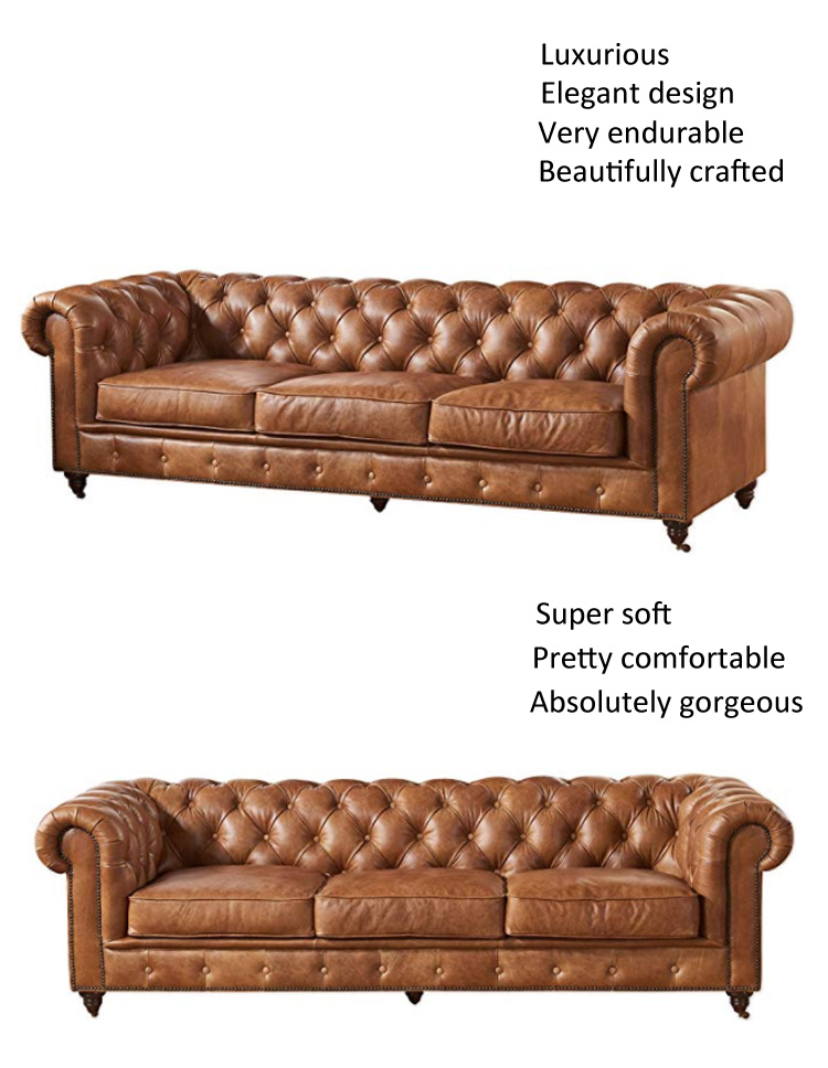 cheap genuine distressed sofa recliner cowhide european style leather vintage sofa