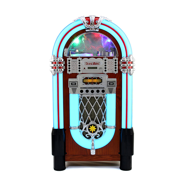 Di alta Qualità di Stile Retro Illuminato Jukebox Sistema Audio Giradischi In Vinile
