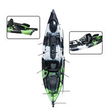 China Leveranciers Water Sport Lldpe LY-ANGLER Wit Water Pedaal De Kajak Boot