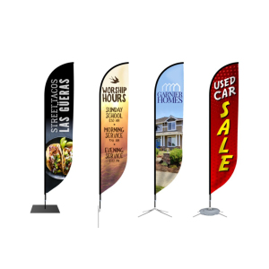 Cheap Custom Printing Outdoor Banner Beach Flag Advertising Open Flag Promotional Sail Feather Teardrop Flag
