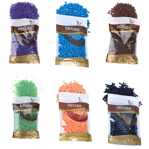 Factory wholesale colorful 10 flavors top quality painless hair removal paraffin hard wax beans 100g/400g/1000g