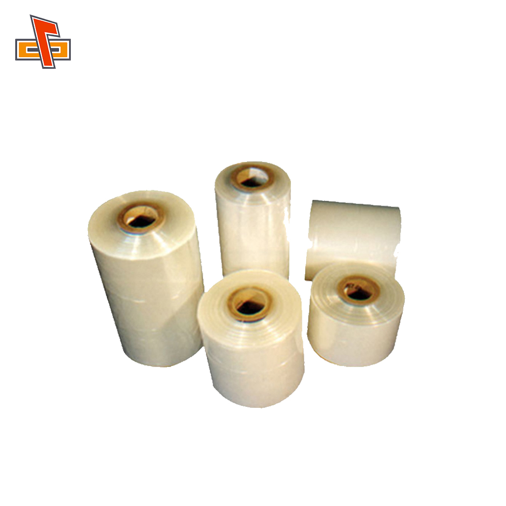 Great shrinkage customize heat sensitive packaging pvc cling film for food wrap made in Guangzhou