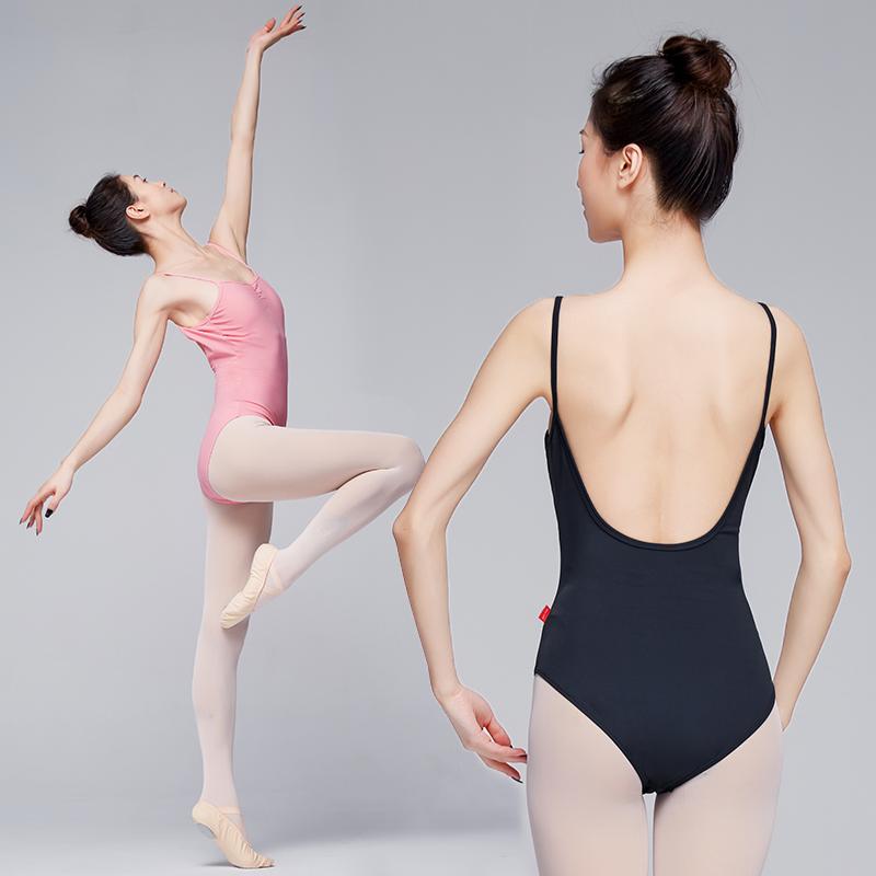 Women Sleeveless Ballet Leotards Adult Low U-Back Sexy Jumpsuit Ladies Gymnastics Dance Leotard