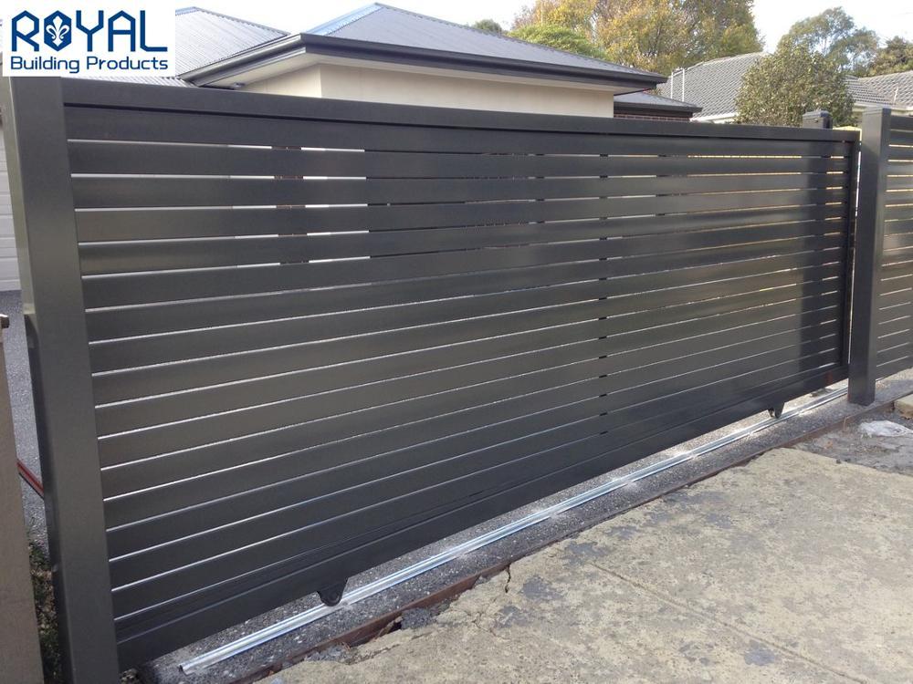 Индивидуальные алюминиевые наружные планки слайдер ворота для продажи
