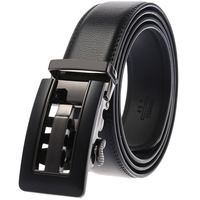 Business Trouser Strap Pant Ceinture Automatic Buckle Cowhide Men Belts