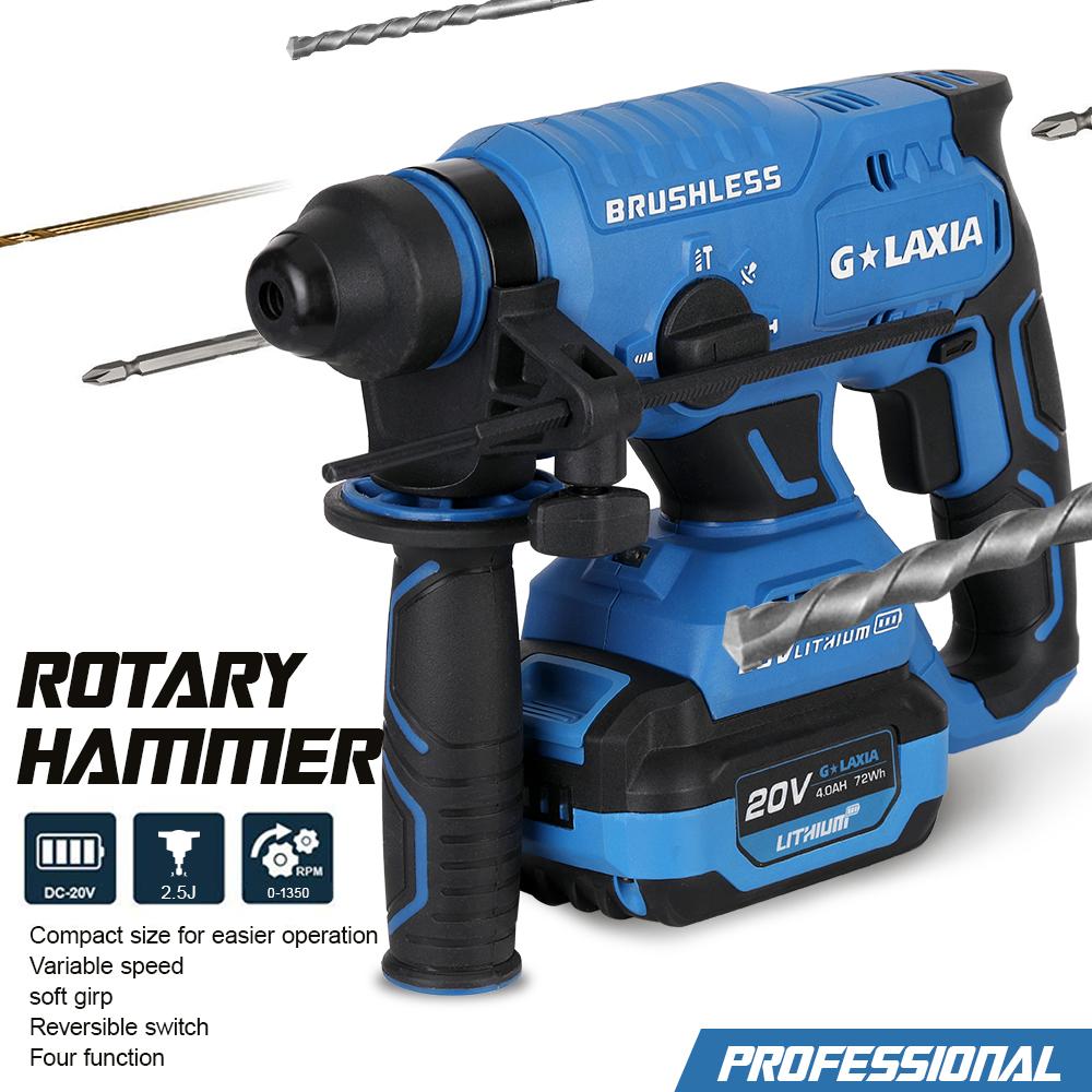 Professional 20V Brushless Rotary Hammer drill