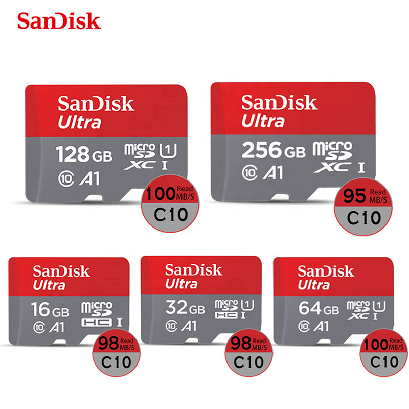 SanDisk A1 Ultra 64GB Micro SD C10 SDHC SDXC Flash Memory TF Card 100MB/S