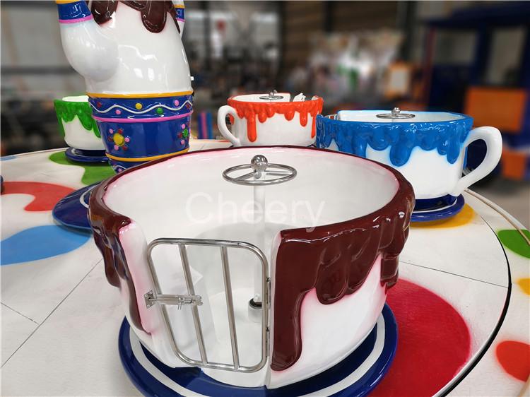 Aangepaste Indoor Pretpark Attractie Kids Ritten Koffie Kopje Thee Cup Carrousel Rit Te Koop