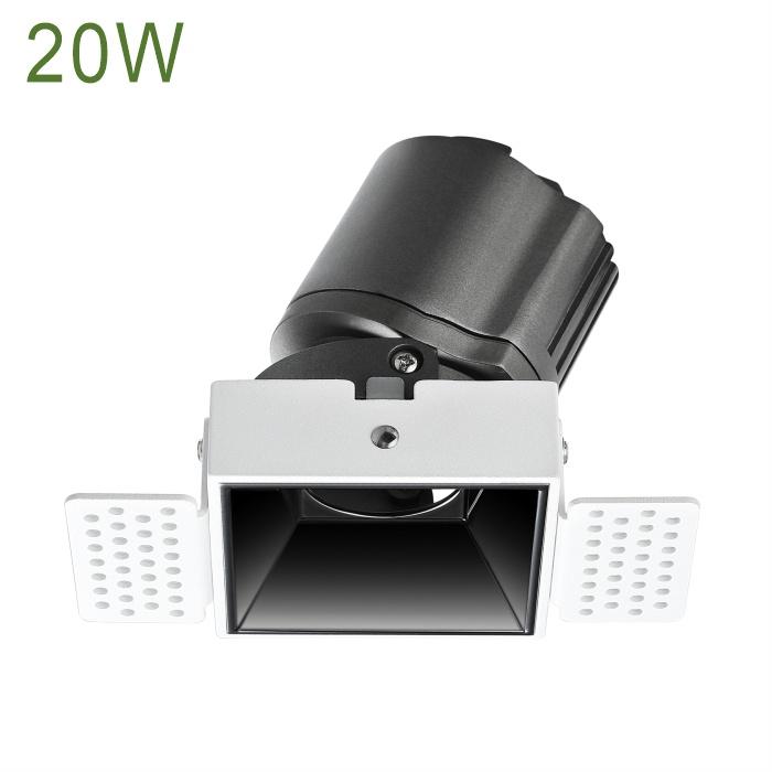 Luminaria LED 20W Empotrado Anti Glare Recessed Narrow Beam Celling Down Lighting LED Spot Light LED Spotlight