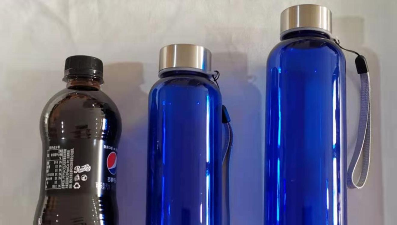 Logotipo personalizado irrompible deporte botella de plástico de 500ml botella de agua libre de BPA tritan material de la botella de agua