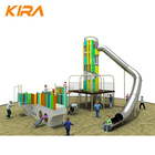 Outdoor commercial children Park Play stainless steel Slide climbing kids Playground for children