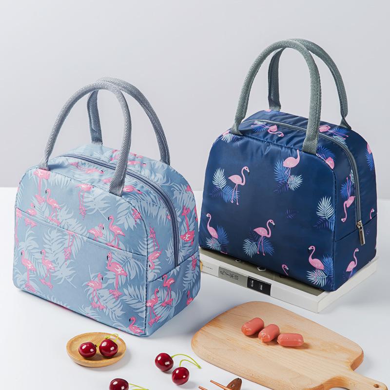 Eco-friendly стильный 2 слоя для завтрака с теплозащитным покрытием и пикника мешок с застежкой-молнией