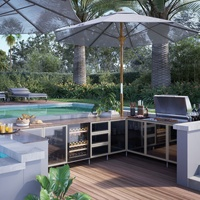 Stainless Steel Outdoor Kitchen BBQ Cabinets for Green Egg Australia