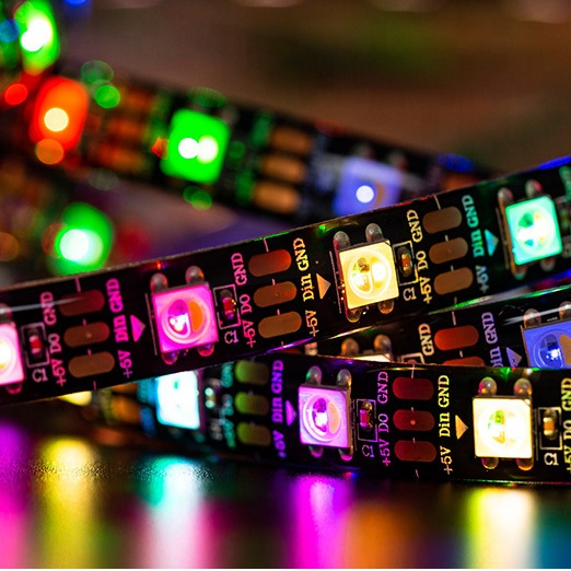 ktv lighting decoration rgbw waterproof digital full color sk6812 led strip tape