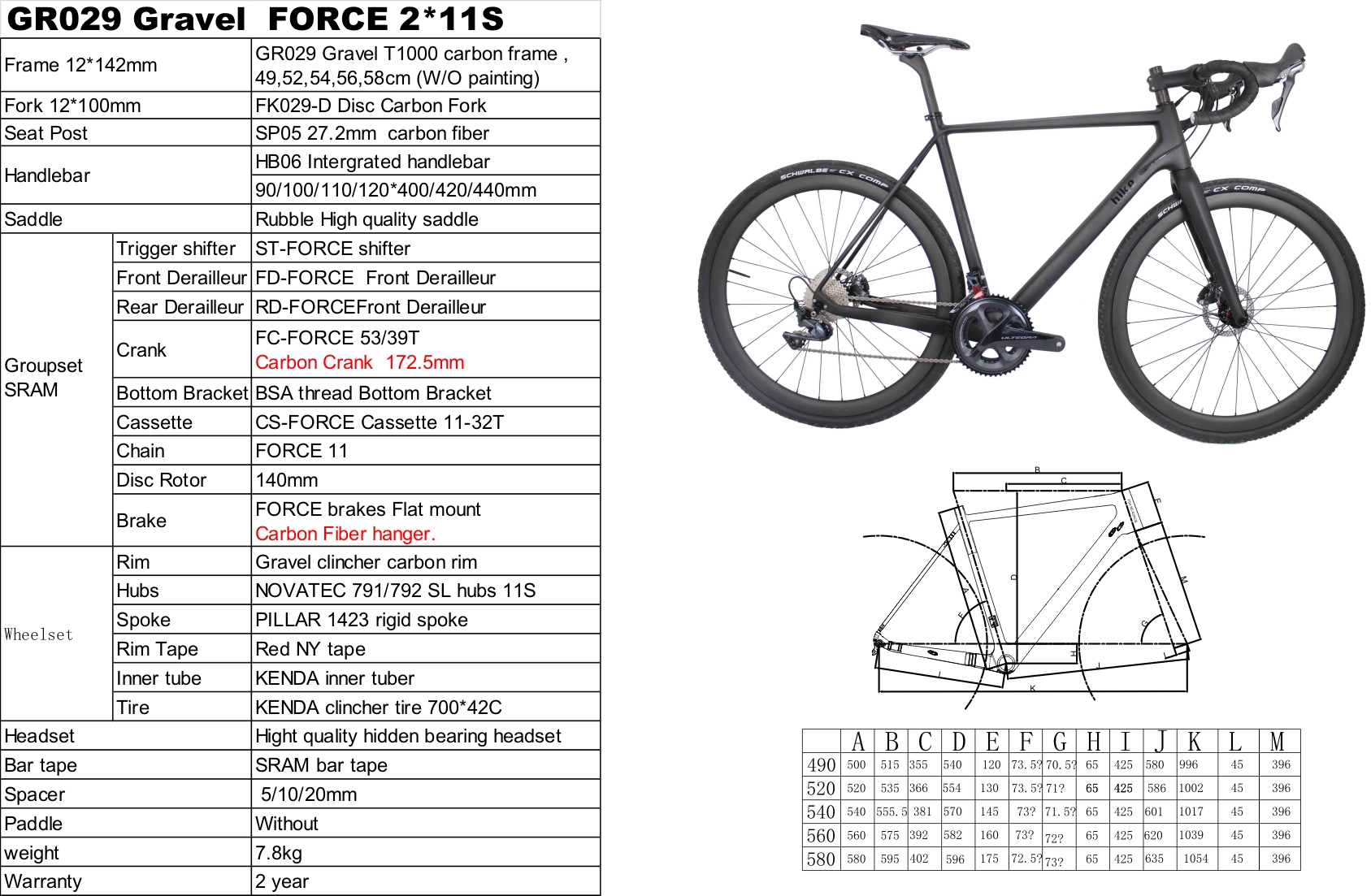 SRA-M FORCE 22S gravel carbon bike 7.8KG All-road disc bike carbon wheelset,700*42C tire