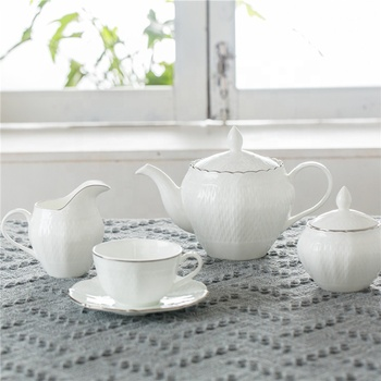 Home decor concise style silver plated chinese fine china antique coffee and tea sets