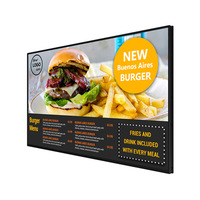 2020 Super Slim 43 46 Inch Hanging LED Menu Board KFC Fast Food Display Board