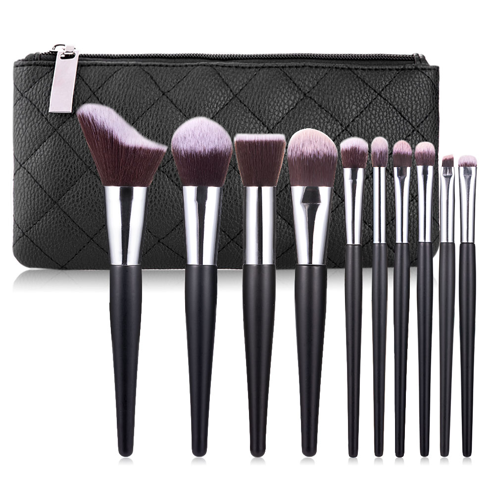 Free <strong>Sample</strong> 10pcs <strong>Makeup</strong> Brushes Powder Eyeshadow Make Up Brush Set Custom Logo Cosmetic Soft Synthetic Hair