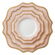 Wholesale pink luxury ceramic gold dinner plates sets porcelain dinnerware sets for wedding