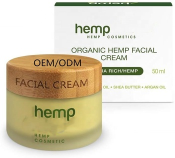 OEM/ODM Face Cream Anti-Aging Hemp Seed Oil Day Face And Neck Hemp Face Cream