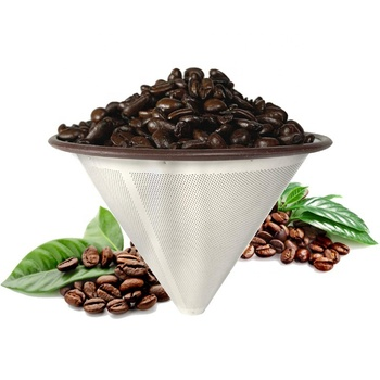 Eco-Friendly Pour Over Stainless Steel Coffee Filter Coffee Dripper