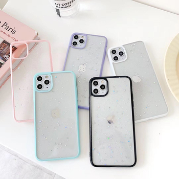 Protective Slim Mobile Phone Bumper Case Cover Transparent Glitter Case For iPhone 11 PRO Max X XR XS SE 6 6S 7 8 Plus