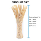 Long Hot Dog Marshmallow Roasting Round Bamboo Stick For Barbecue