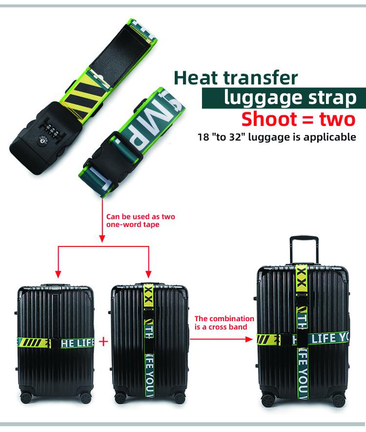 Heavy Dutyโพลีเอสเตอร์ยืดหยุ่นปรับHookและLoop Fastenerคุณภาพสูงขายส่งTsaอนุมัติสายคล้องกระเป๋าเดินทาง